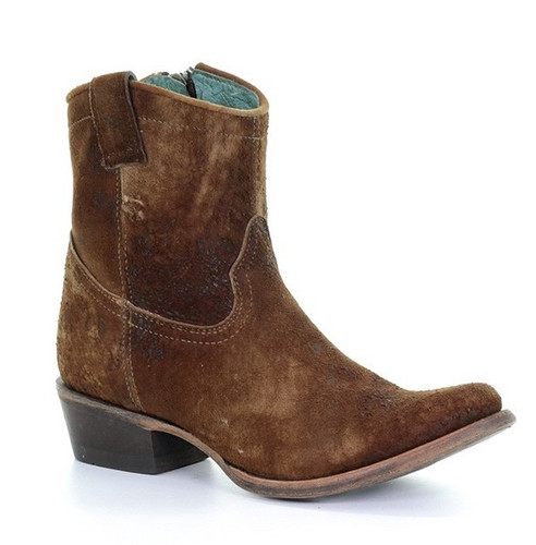 Corral Chocolate Tan Lamb Abstract Short Boot C1064 Picture
