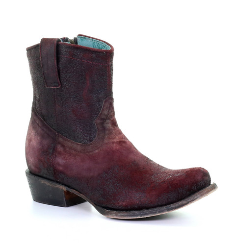 Corral Wine Lamb Round Toe Ankle Boot C3416 Picture