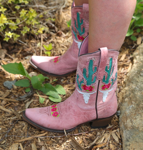 Junk Gypsy by Lane Bramble Rose Blush Pink Boots JG0015E Image