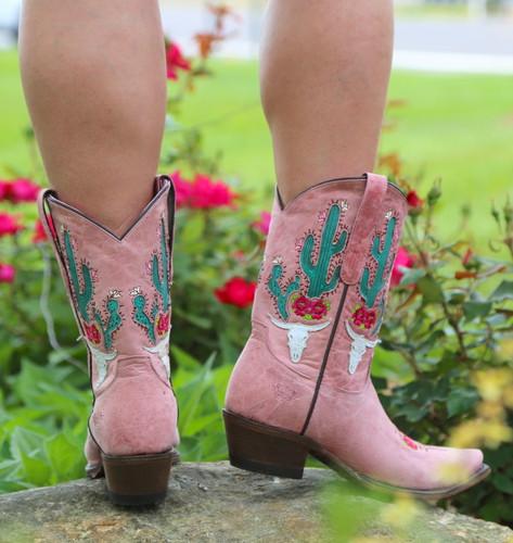 Junk Gypsy by Lane Bramble Rose Blush Pink Boots JG0015E Heel