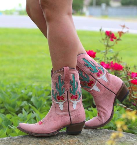 Junk Gypsy by Lane Bramble Rose Blush Pink Boots JG0015E Walk