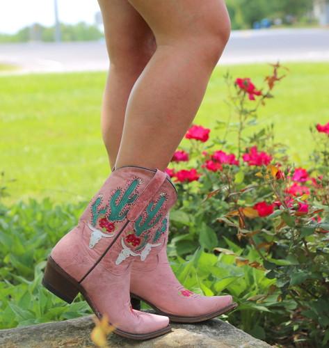 Junk Gypsy by Lane Bramble Rose Blush Pink Boots JG0015E Photo
