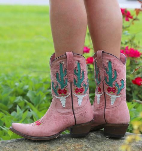 Junk Gypsy by Lane Bramble Rose Blush Pink Boots JG0015E Cactus