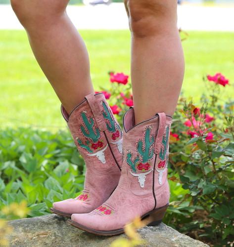 Junk Gypsy by Lane Bramble Rose Blush Pink Boots JG0015E Picture