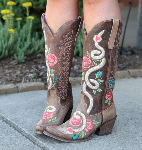 Junk Gypsy by Lane Charmer Brown Boots JG0054A Photo