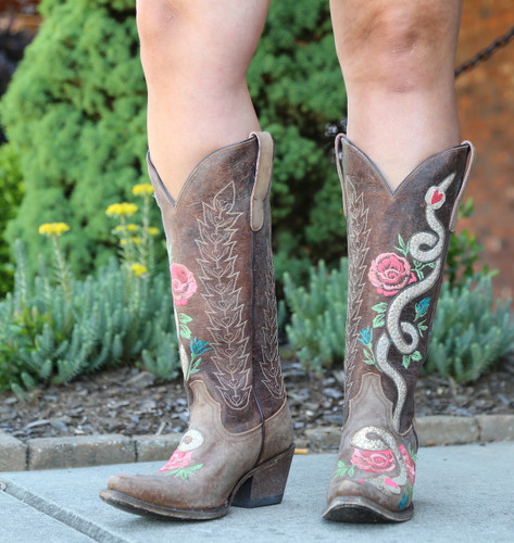 Junk Gypsy by Lane Charmer Brown Boots JG0054A Image