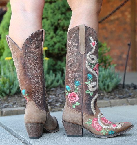 Junk Gypsy by Lane Charmer Brown Boots JG0054A Heel