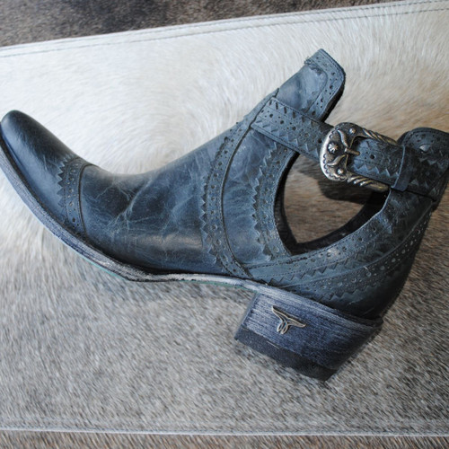 Lane Cahoots Black Buckle Booties LB0393B Picture