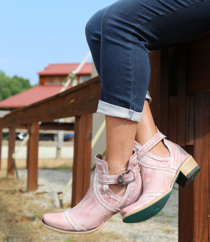 Lane Cahoots Blush Ankle Boot LB0393E Sole