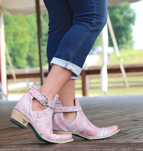 Lane Cahoots Blush Ankle Boot LB0393E Buckle