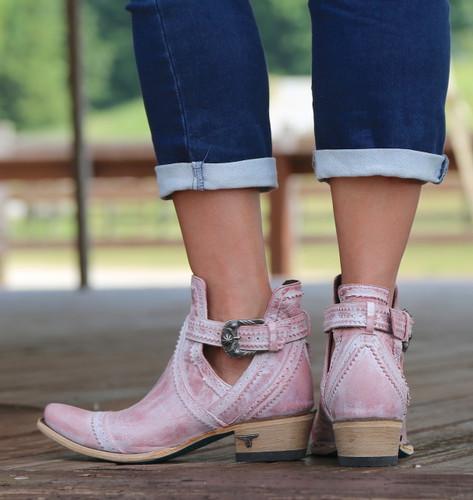 Lane Cahoots Blush Ankle Boot LB0393E Heel