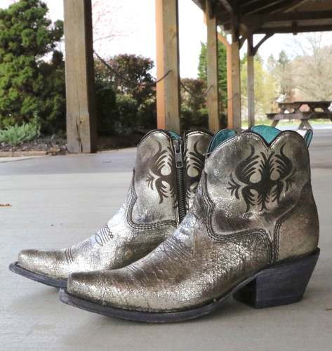 Corral Silver Laser Engraved Ankle Boot G1476 Picture