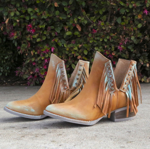 Corral Honey Studs and Fringe Bootie Q5091 Picture