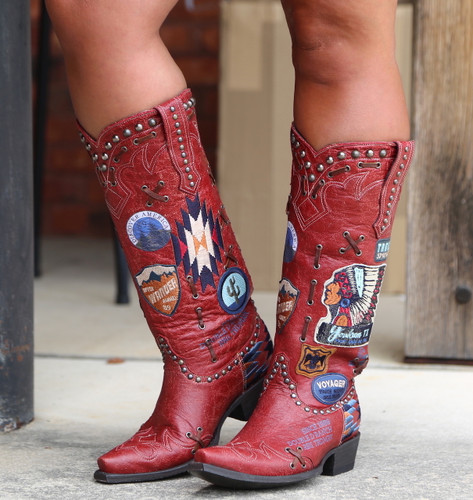 Double D by Old Gringo Escalante Red Boots DDL044-1 Photo
