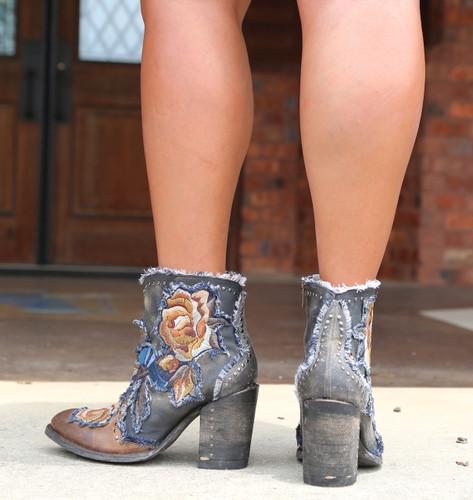 Old Gringo Carla Short Saddle Boots BL3184-2 Heel