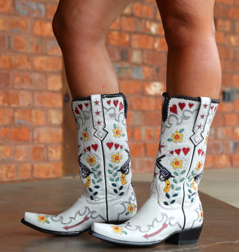 Double D by Old Gringo Cowgirl Bandit White Boots DDL041-2 Image
