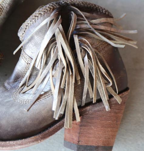 Liberty Black Buffed Metal Boots LB712320 Fringe