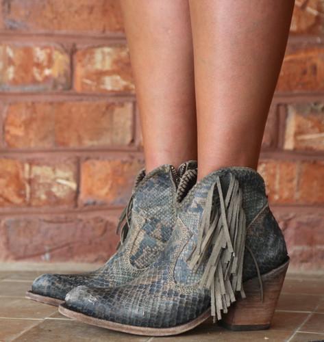 Liberty Black Python Verde Boots LB712320 Image