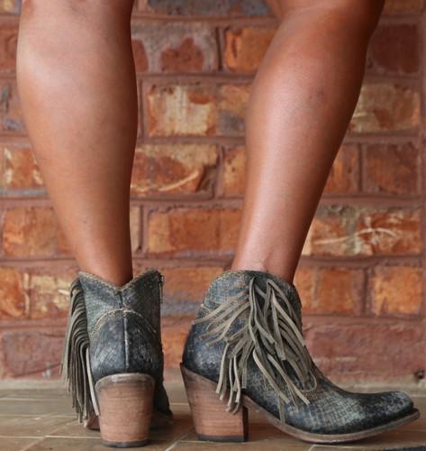 Liberty Black Python Verde Boots LB712320 Heel