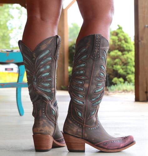 Liberty Black Tall Vintage Canela Boots LB711510 Heel