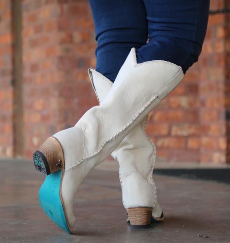 Lane Plain Jane Bone Boot LB0350J Sole