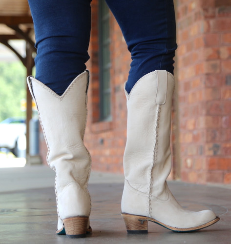 Lane Plain Jane Bone Boot LB0350J Heel