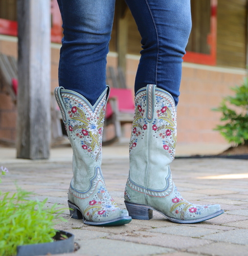 Lane Chloe Turquoise Boots LB0418C Picture
