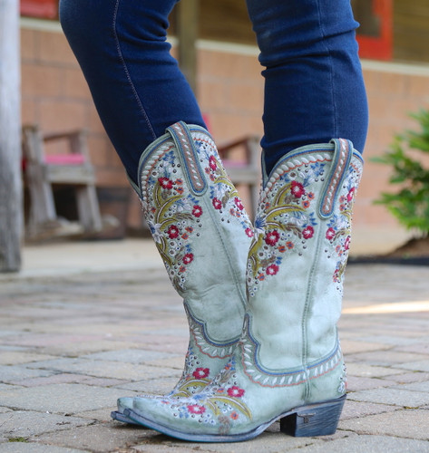 Lane Chloe Turquoise Boots LB0418C Photo