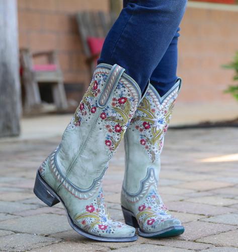 Lane Chloe Turquoise Boots LB0418C Toe
