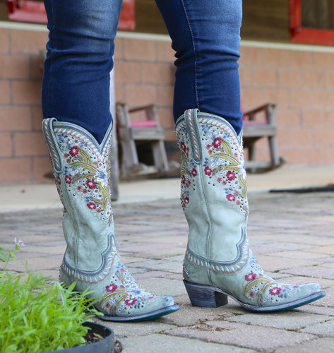 Lane Chloe Turquoise Boots LB0418C Front