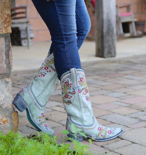 Lane Chloe Turquoise Boots LB0418C Side