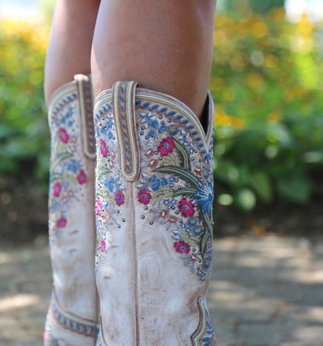 Lane Chloe Dusty Tan Boots LB0418B Embroidery