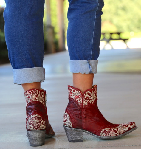 Old Gringo Erin Short Red Boots BL3084-4 Heel