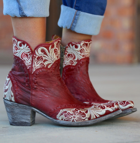 Old Gringo Erin Short Red Boots BL3084-4 Embroidery