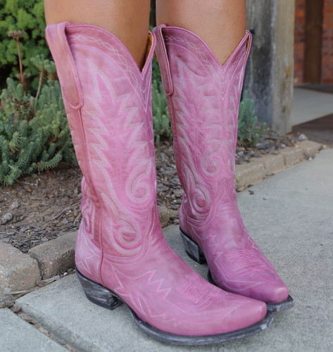 Old Gringo Nevada Pink Boots L175-426 Detail
