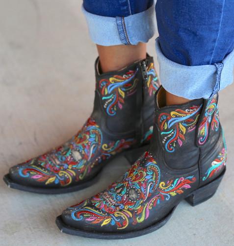 Old Gringo Dulce Calavera Rustic Beige Multi Boots BL3233-2 Embroidery