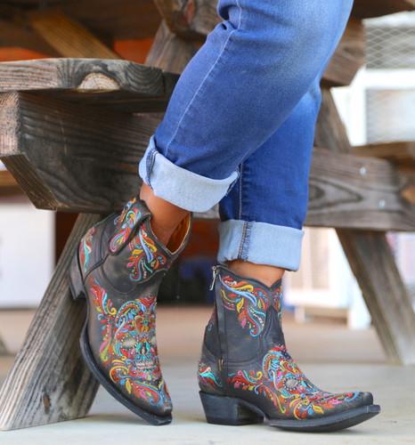Old Gringo Dulce Calavera Rustic Beige Multi Boots BL3233-2 Picture