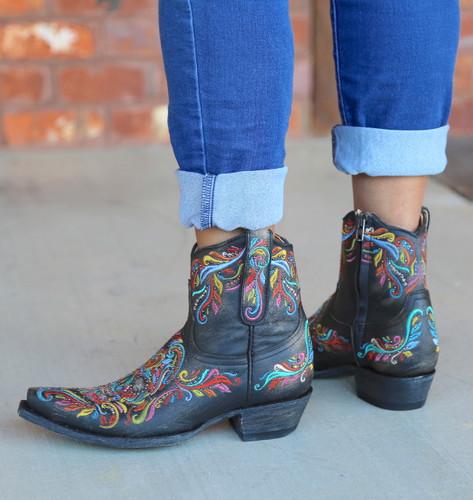 Old Gringo Dulce Calavera Rustic Beige Multi Boots BL3233-2 Heel