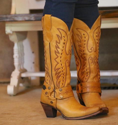 Junk Gypsy by Lane Vagabond Mustard Boots JG0030C Toe