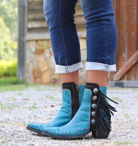 Double D by Old Gringo Apache Kid Turquoise Boots DDBL018-3 Picture