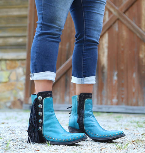 Double D by Old Gringo Apache Kid Turquoise Boots DDBL018-3 Photo