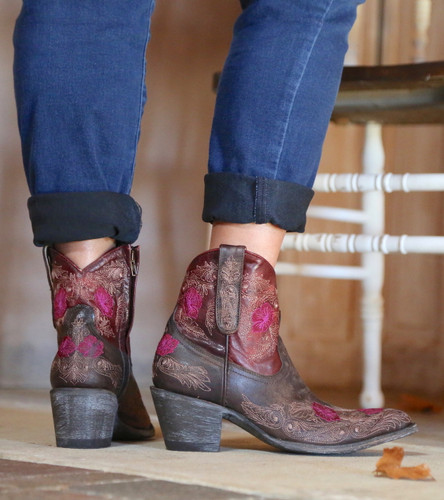Yippee by Old Gringo Laurel Chocolate Red Boots YBL326-3 Heel