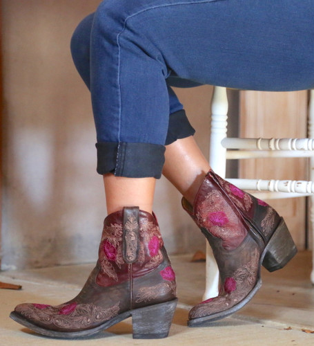 Yippee by Old Gringo Laurel Chocolate Red Boots YBL326-3 Image