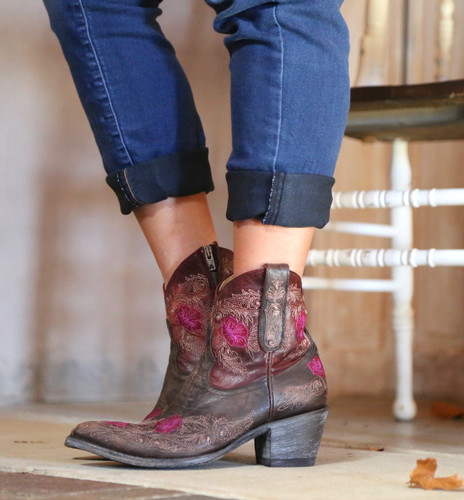 Yippee by Old Gringo Laurel Chocolate Red Boots YBL326-3 Picture
