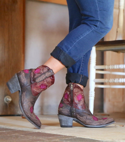 Yippee by Old Gringo Laurel Chocolate Red Boots YBL326-3 Photo