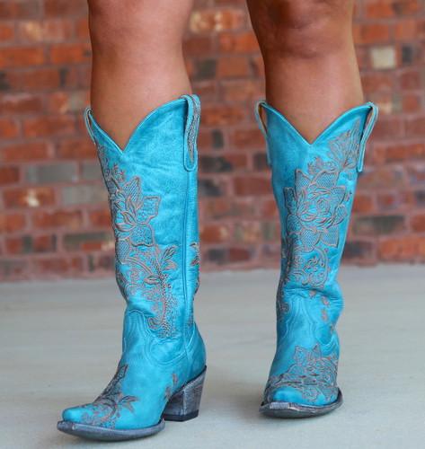 Old Gringo Nicolette Turquoise Boots L2310-9 Image