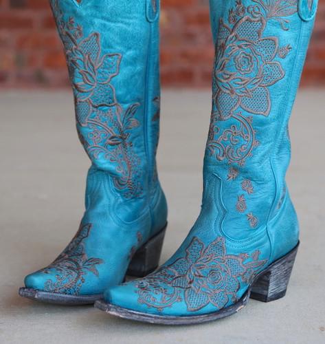 Old Gringo Nicolette Turquoise Boots L2310-9 Toe