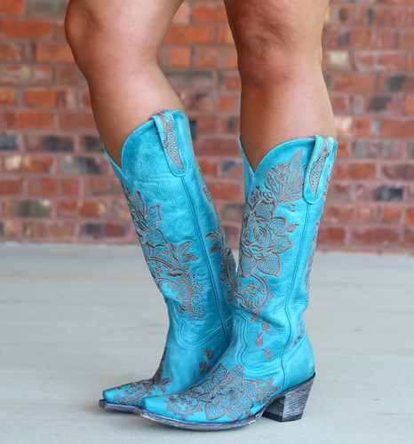 Old Gringo Nicolette Turquoise Boots L2310-9 Photo