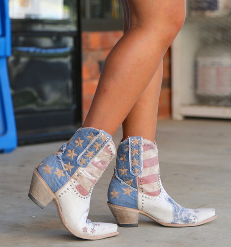 Yippee by Old Gringo Jorie Short Taupe Boots YBL341-1 Image