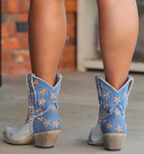 Yippee by Old Gringo Jorie Short Taupe Boots YBL341-1 Heel